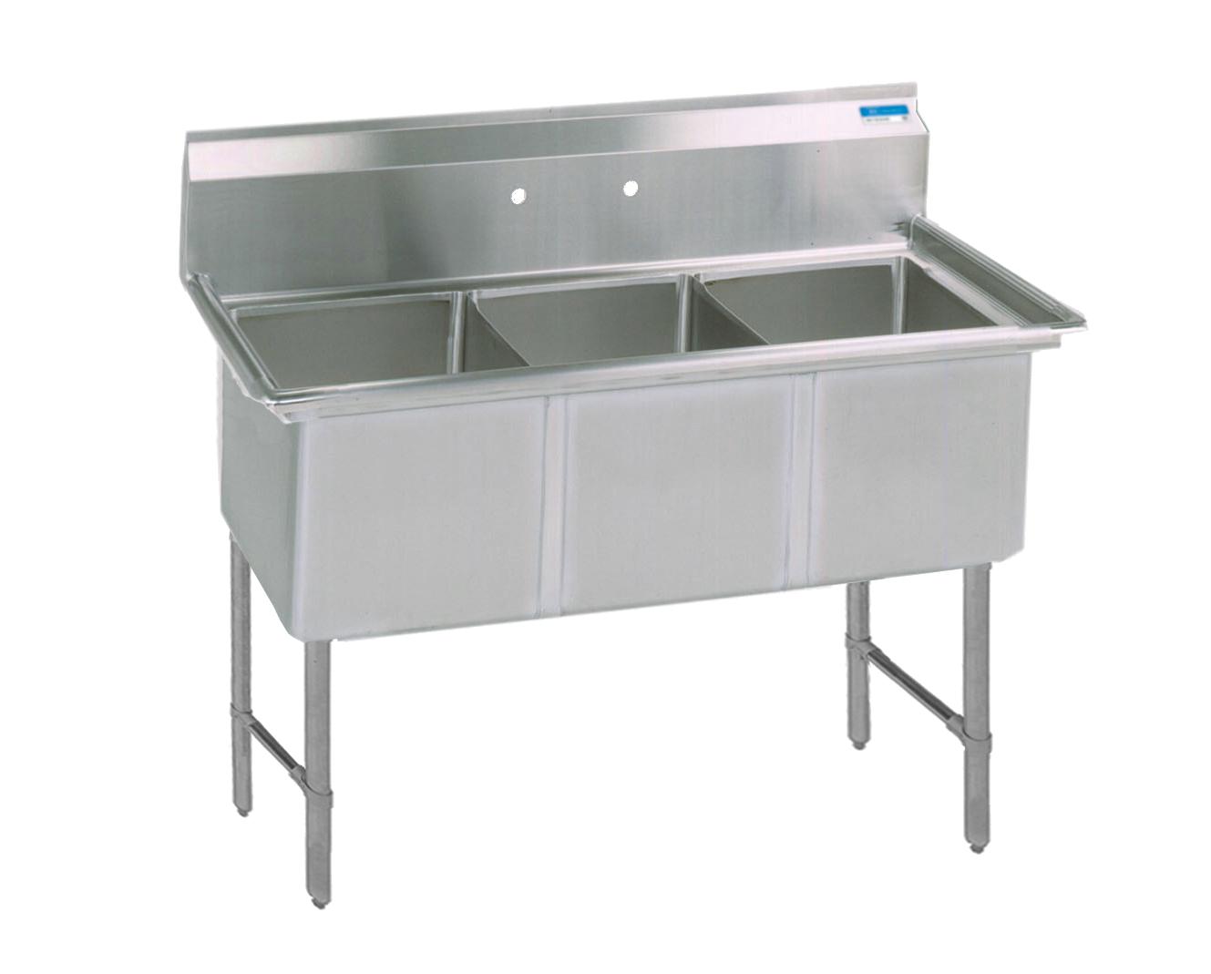 BK Resources BKS6-3-1620-14S sink, (3) three compartment