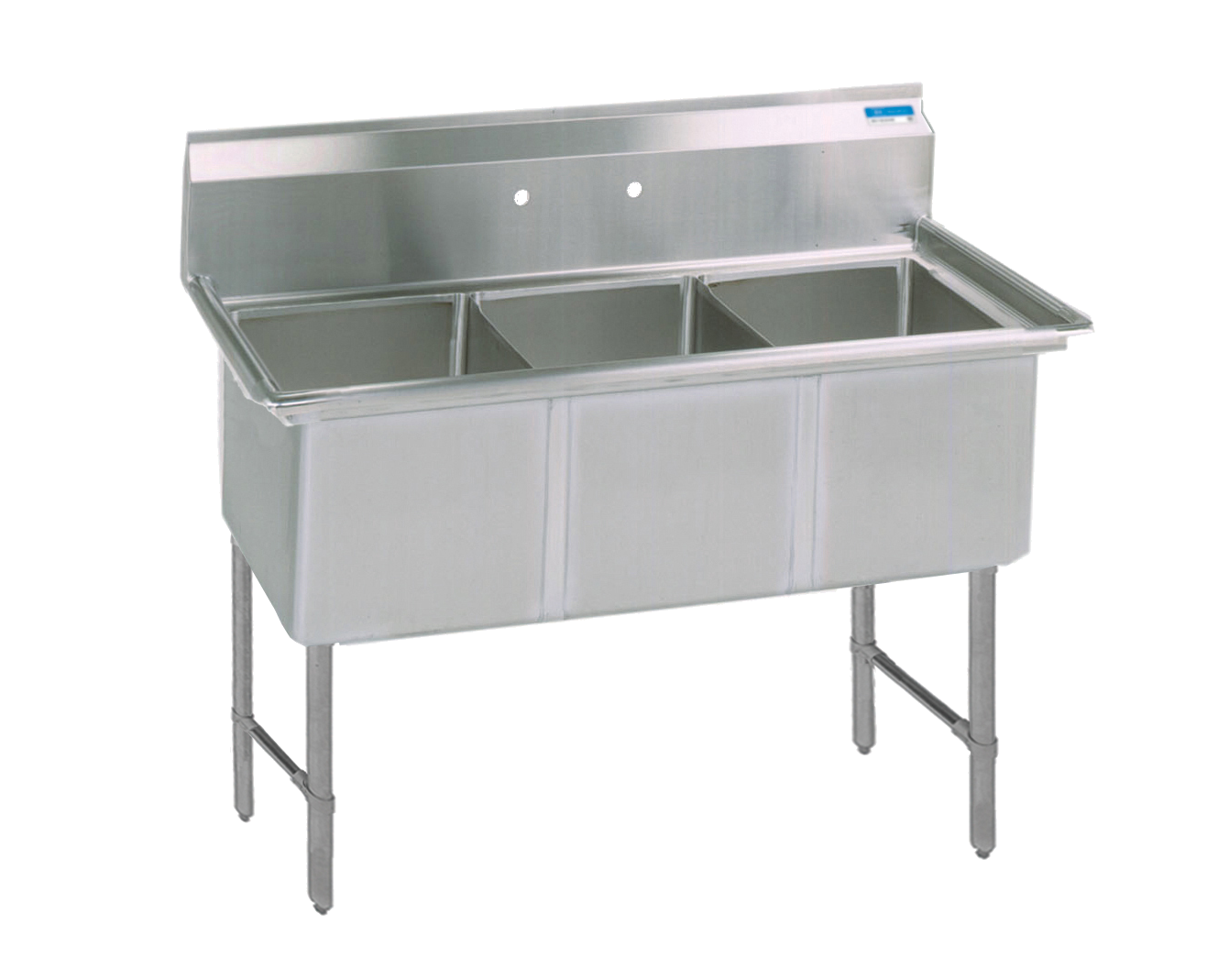 BK Resources BKS6-3-18-14S sink, (3) three compartment