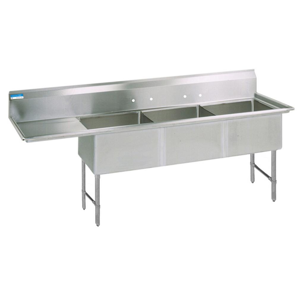 BK Resources BKS6-3-24-14-24LS sink, (3) three compartment