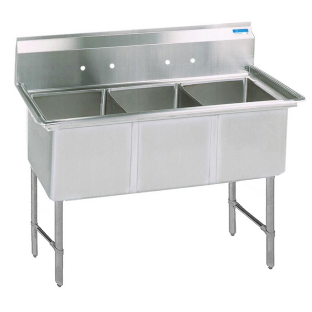 BK Resources BKS6-3-24-14S sink, (3) three compartment