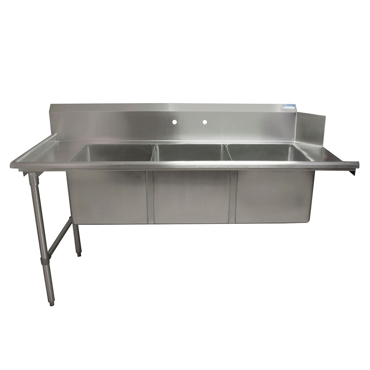 BK Resources BKSDT-3-1820-14-LS dishtable, with potsinks