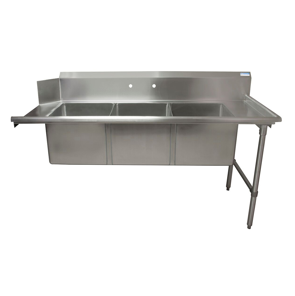 BK Resources BKSDT-3-1820-14-RS dishtable, with potsinks