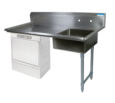 BK Resources BKUCDT-50-R-SS-P3-G dishtable, soiled, undercounter