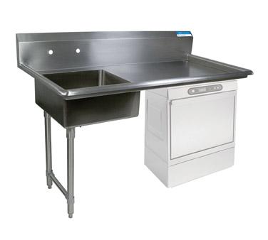 BK Resources BKUCDT-60-L-SS dishtable, soiled, undercounter