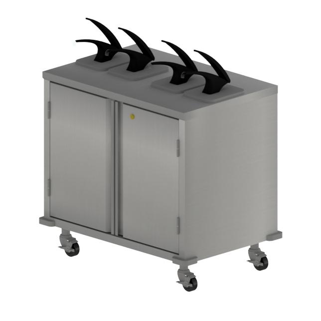 BK Resources CC-DP-364 cart, condiment
