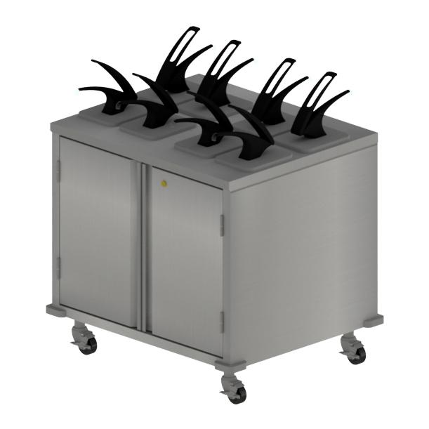 BK Resources CC-DP-368D cart, condiment