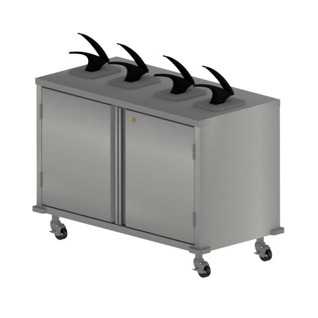 BK Resources CC-DP-484 cart, condiment