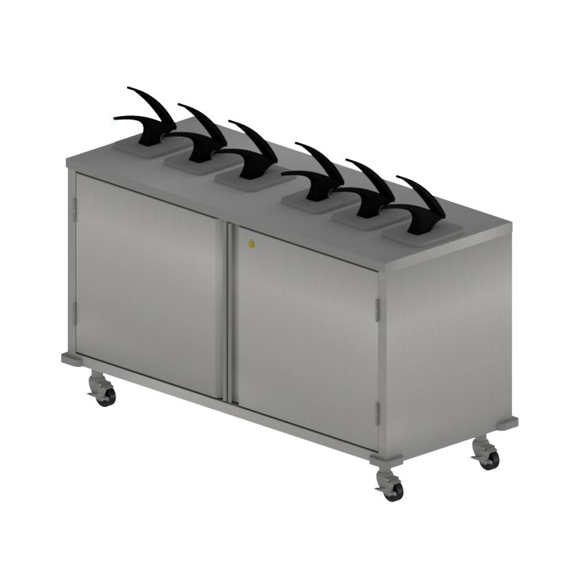 BK Resources CC-DP-606 cart, condiment