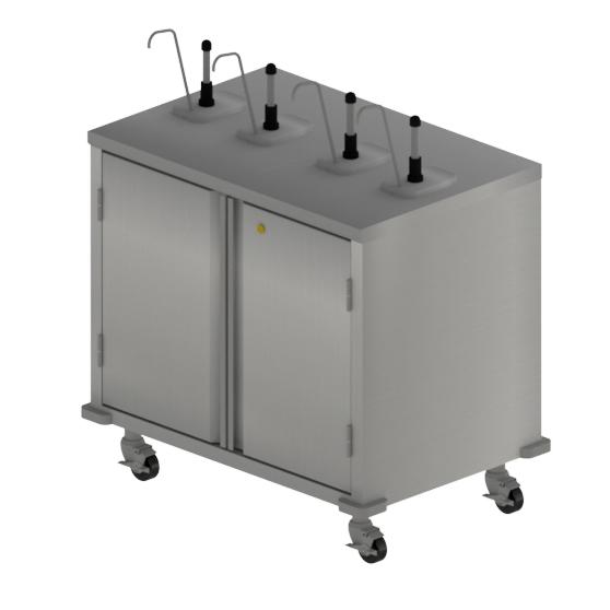 BK Resources CC-R-364 cart, condiment