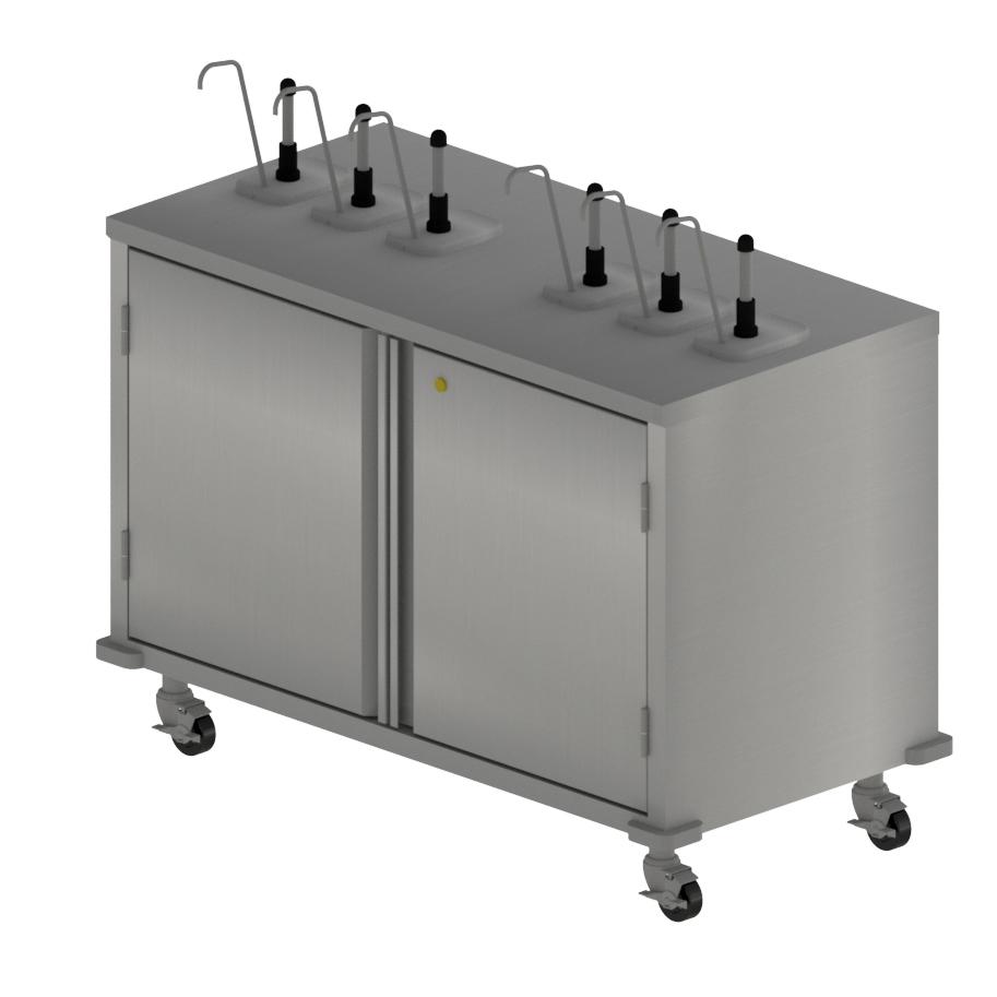 BK Resources CC-R-486 cart, condiment