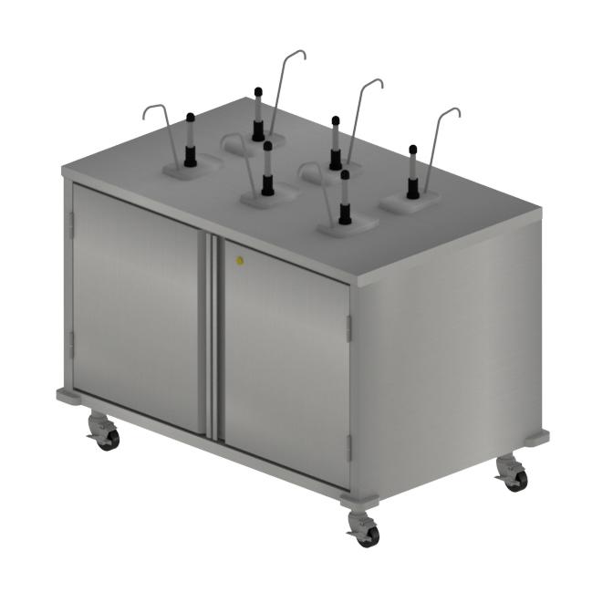 BK Resources CC-R-486D cart, condiment