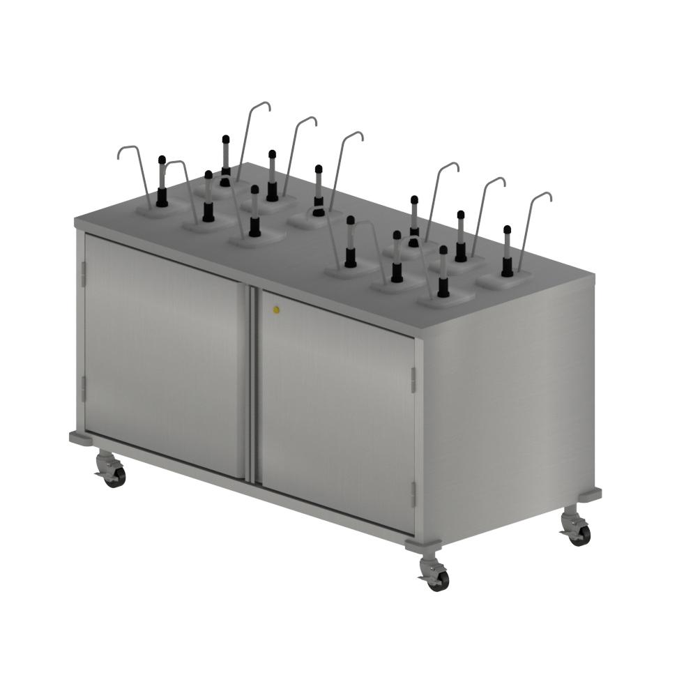 BK Resources CC-R-6012D cart, condiment