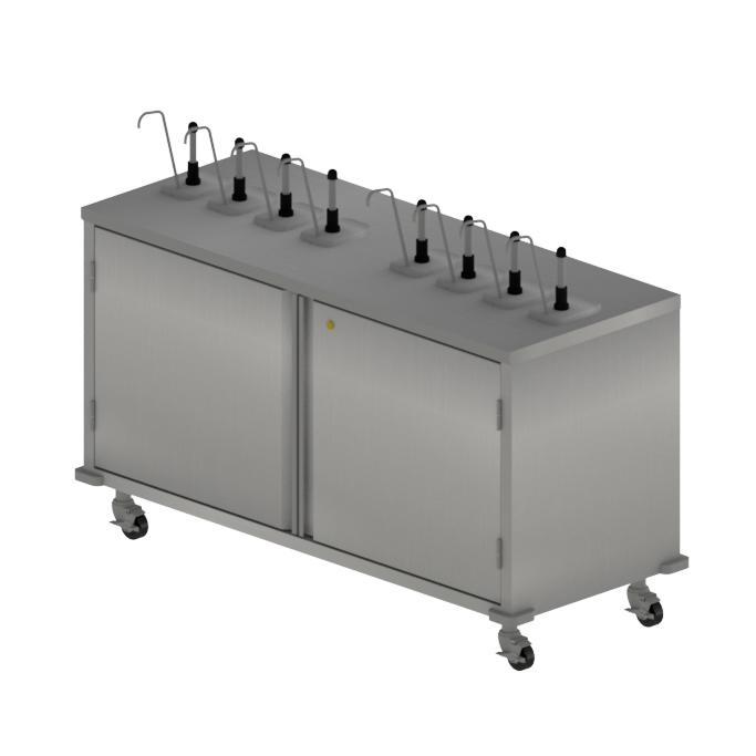 BK Resources CC-R-608 cart, condiment