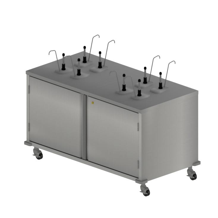 BK Resources CC-R-608D cart, condiment