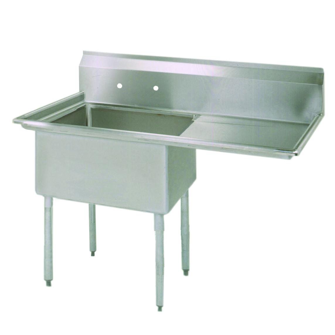 BK Resources ES-1-18-12-18R sink, (1) one compartment