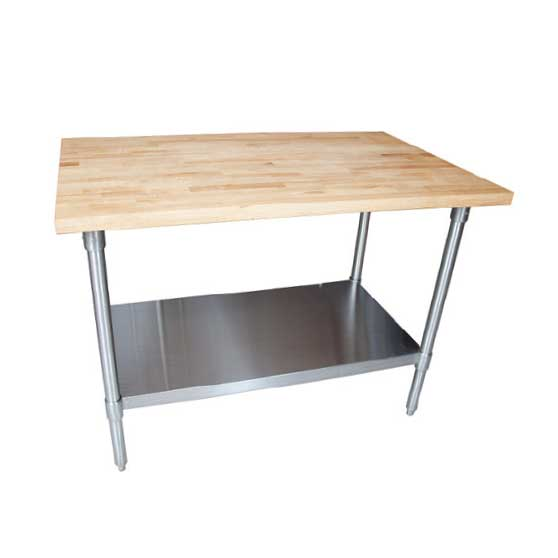 BK Resources MFTS-4830 work table, wood top