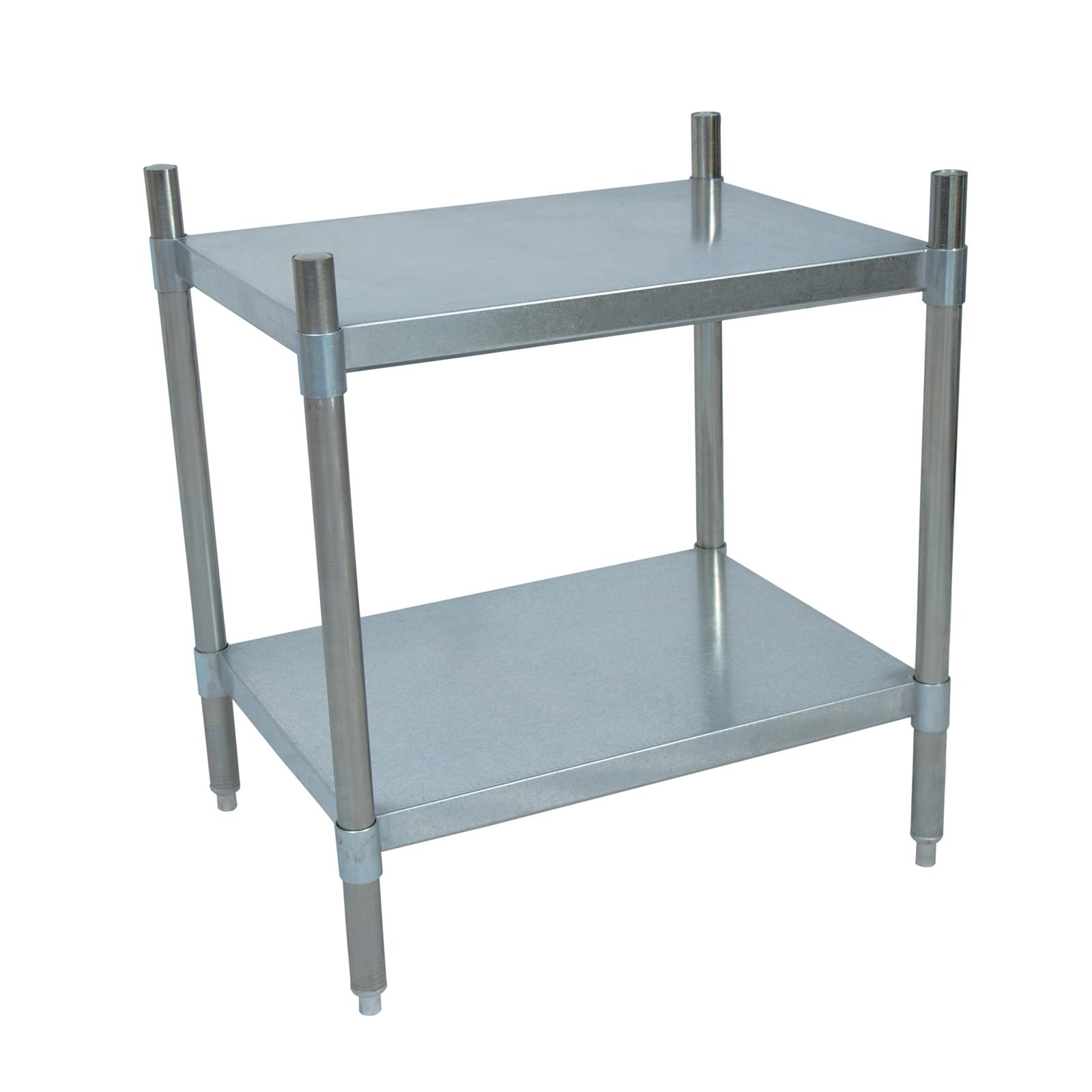 BK Resources SSU3-6724 shelving unit, solid flat