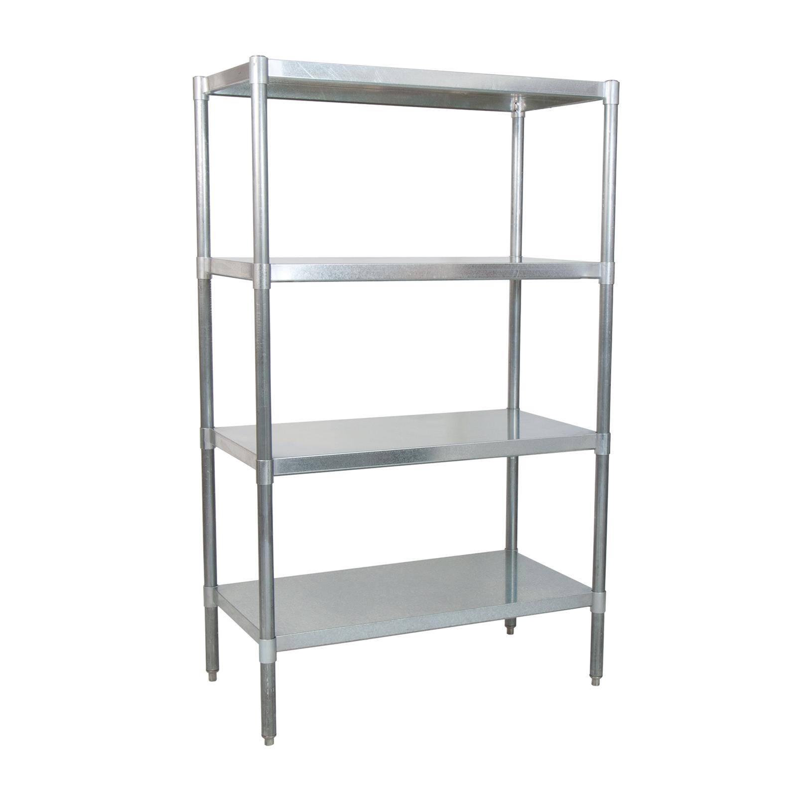 BK Resources SSU6-3124 shelving unit, solid flat