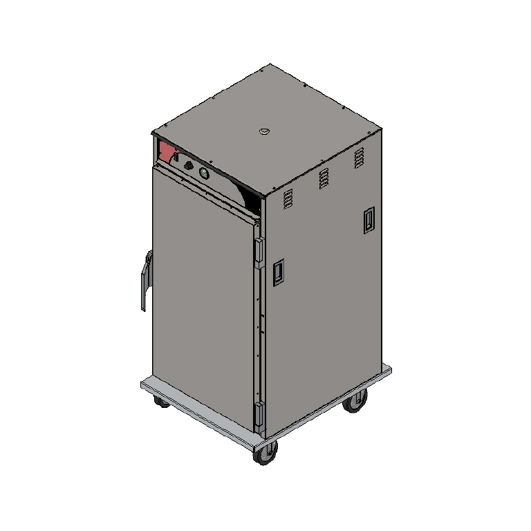 BevLes Company HTSS60W94 proofer cabinet, mobile