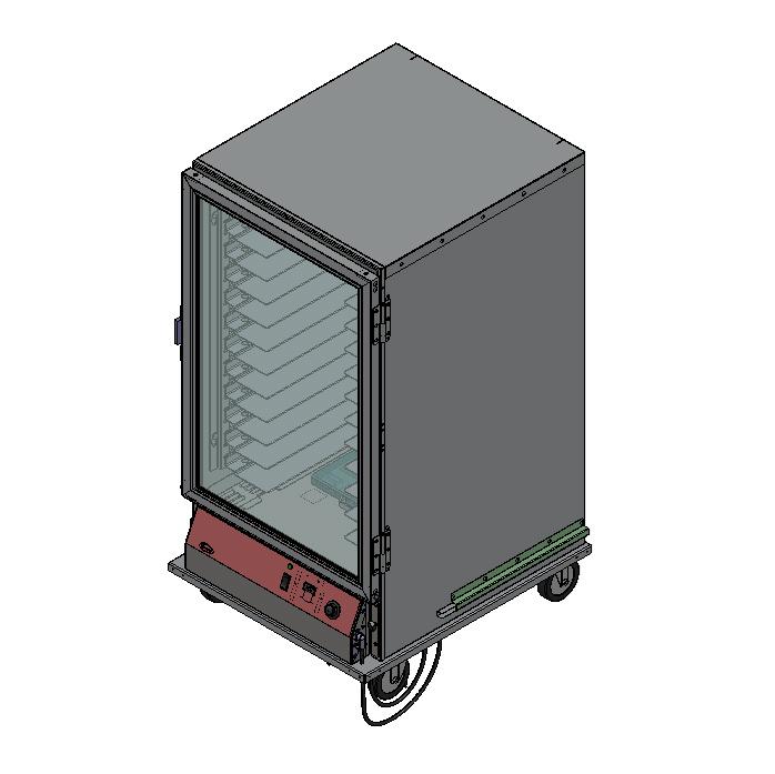 BevLes Company PICA60-24INS-A-1L1 proofer cabinet, mobile