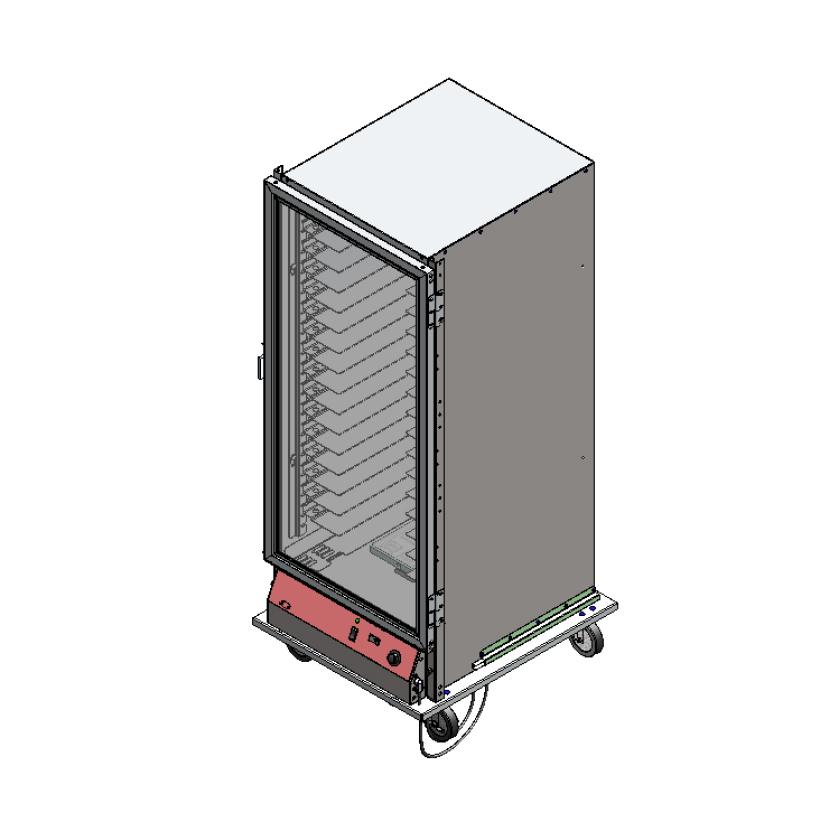 BevLes Company PICA70-32-A-1L2 proofer cabinet, mobile