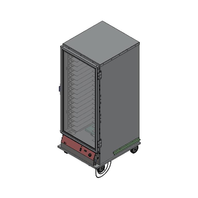 BevLes Company PICA70-32INS-A-1L2 proofer cabinet, mobile