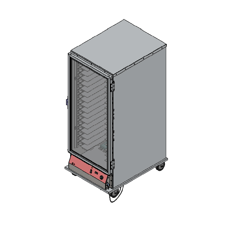 BevLes Company PICA70-32INS-AED-4R3 proofer cabinet, mobile
