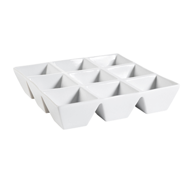 CAC China CMP-SQ9 tray, compartment, china
