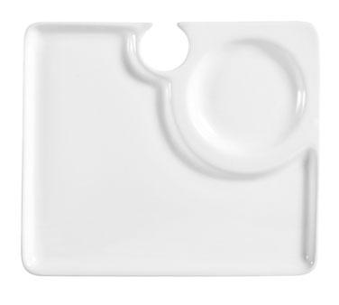 CAC China COL-P2 plate, wine glass holder