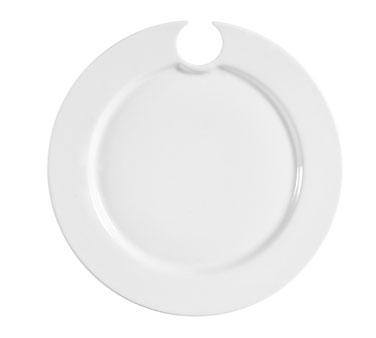 CAC China COL-P8 plate, wine glass holder