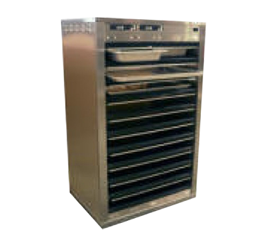 Carter-Hoffmann DF1220-4 heated cabinet, mobile, pass-thru