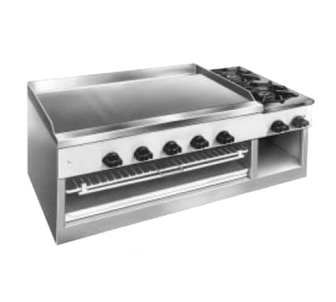 Comstock-Castle 11201B griddle / hotplate, gas, countertop