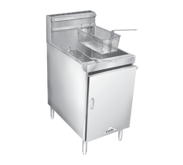Comstock-Castle 18HF fryer, gas, floor model, full pot