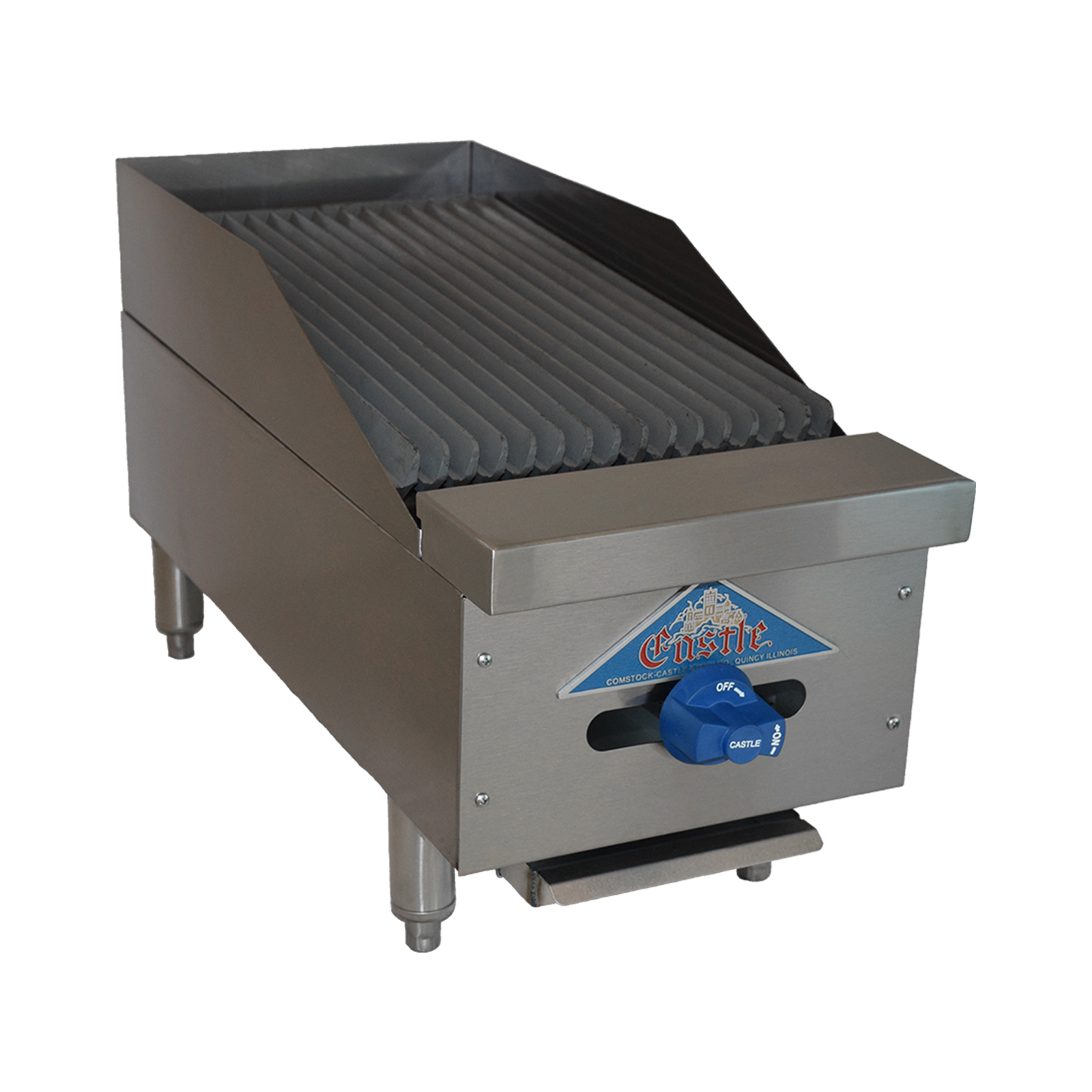 Comstock-Castle 3212RB charbroiler, gas, countertop