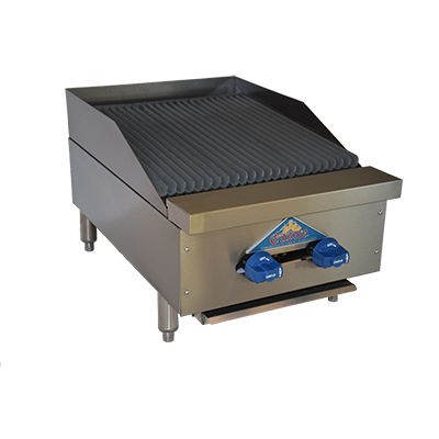 Comstock-Castle 3218RB charbroiler, gas, countertop