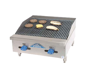 Comstock-Castle 3224RB charbroiler, gas, countertop