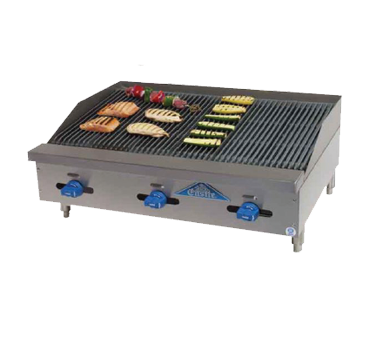 Comstock-Castle 3236RB charbroiler, gas, countertop