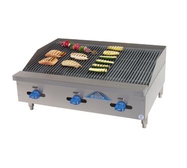 Comstock-Castle 3248RB charbroiler, gas, countertop