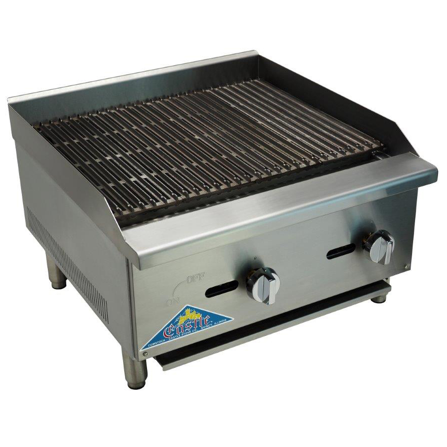 Comstock-Castle CCELB48 charbroiler, gas, countertop
