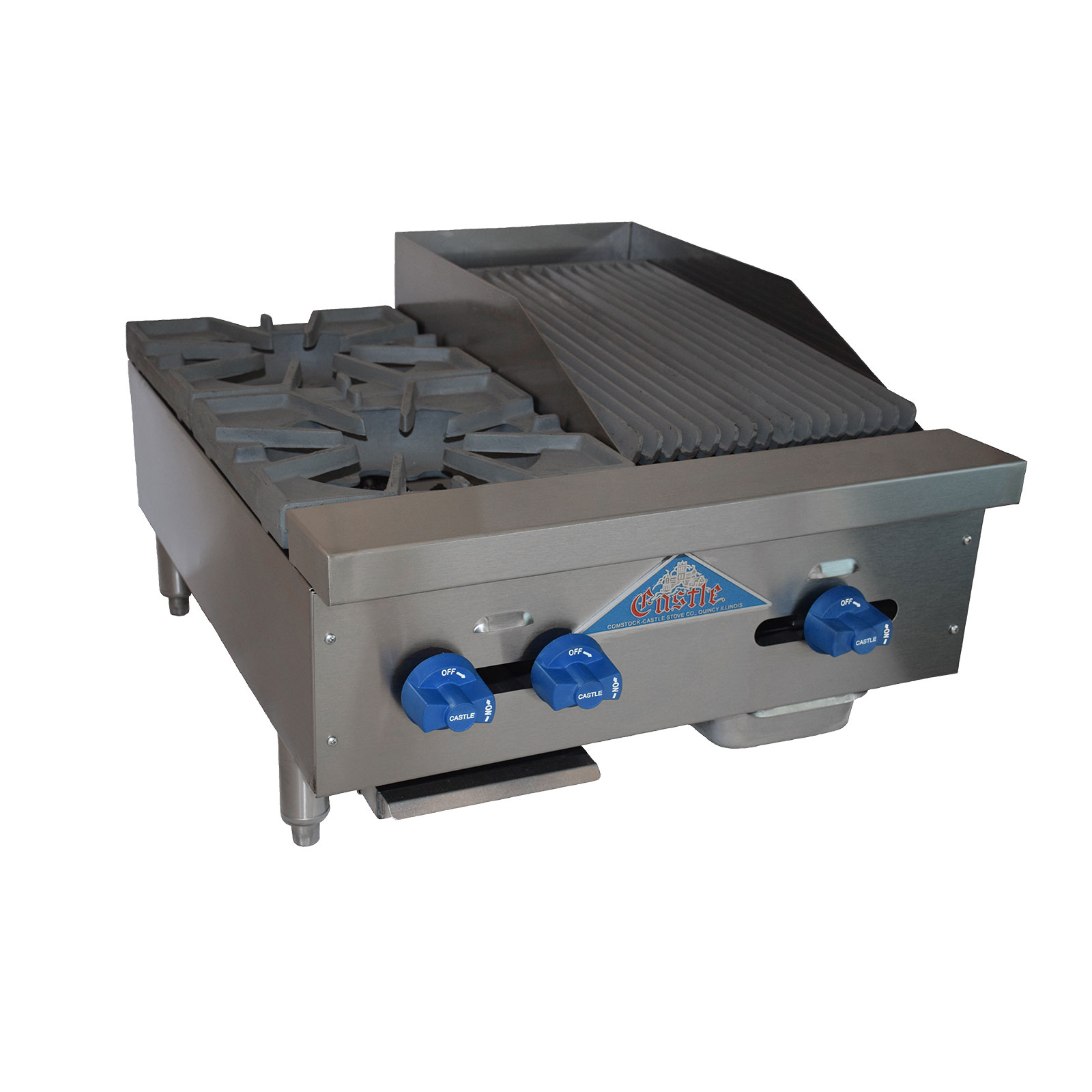 Comstock-Castle FHP24-12-1LB griddle / charbroiler, gas, countertop