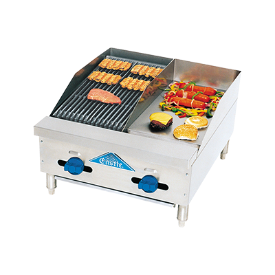 Comstock-Castle FHP24-12-1RB griddle / charbroiler, gas, countertop