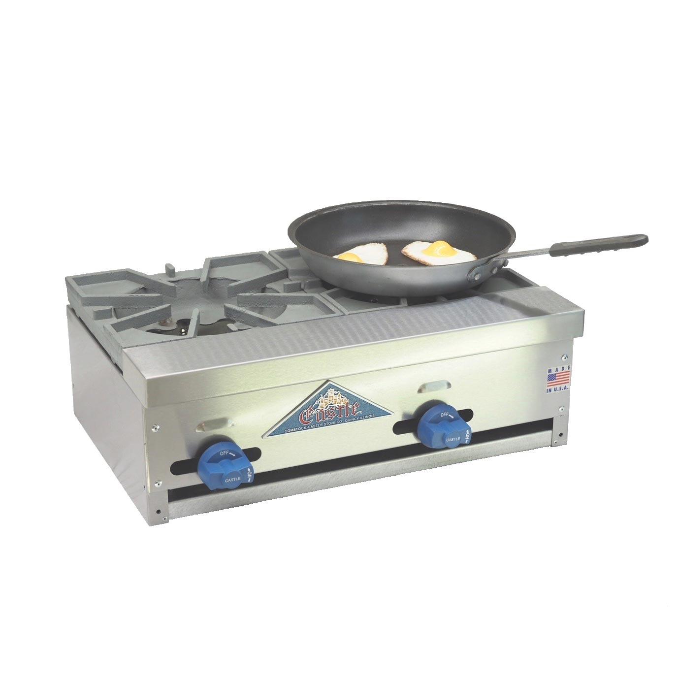 Comstock-Castle FHP24-1LB charbroiler / hotplate, gas, countertop
