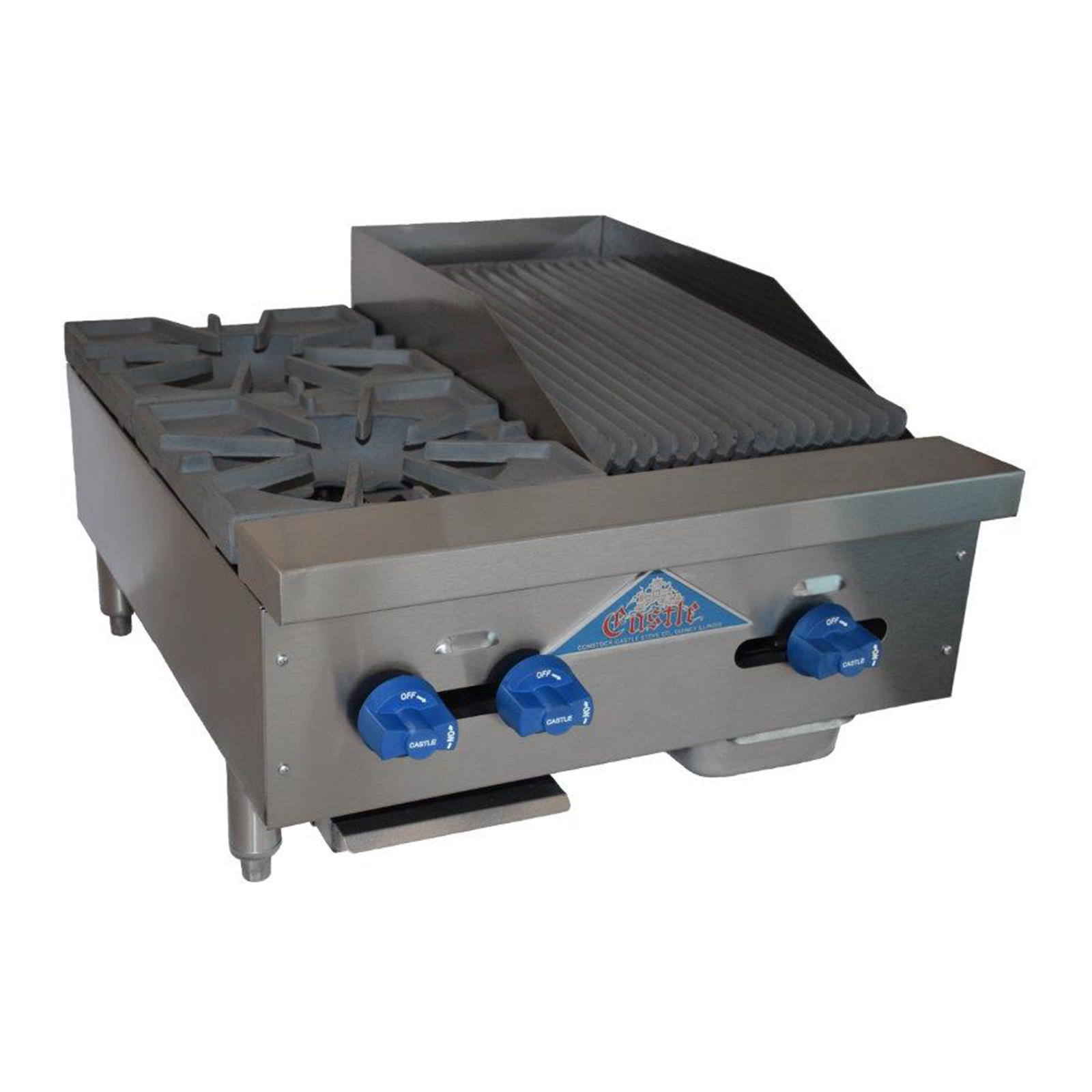 Comstock-Castle FHP24-1RB charbroiler / hotplate, gas, countertop