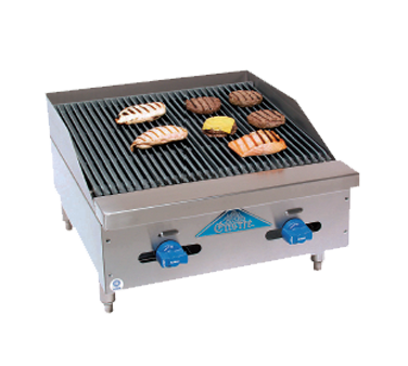 Comstock-Castle FHP24-2RB charbroiler, gas, countertop