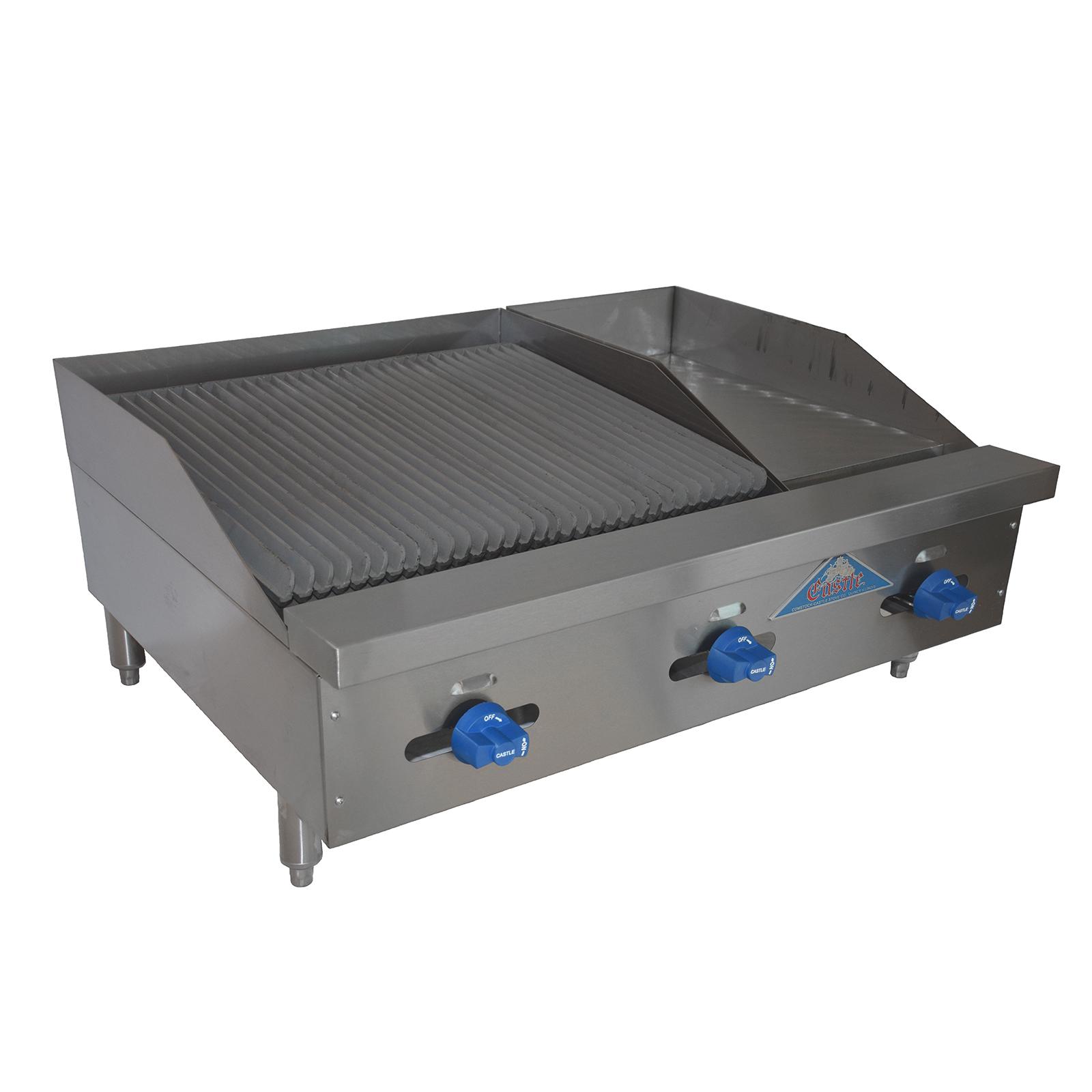 Comstock-Castle FHP36-12-2LB griddle / charbroiler, gas, countertop