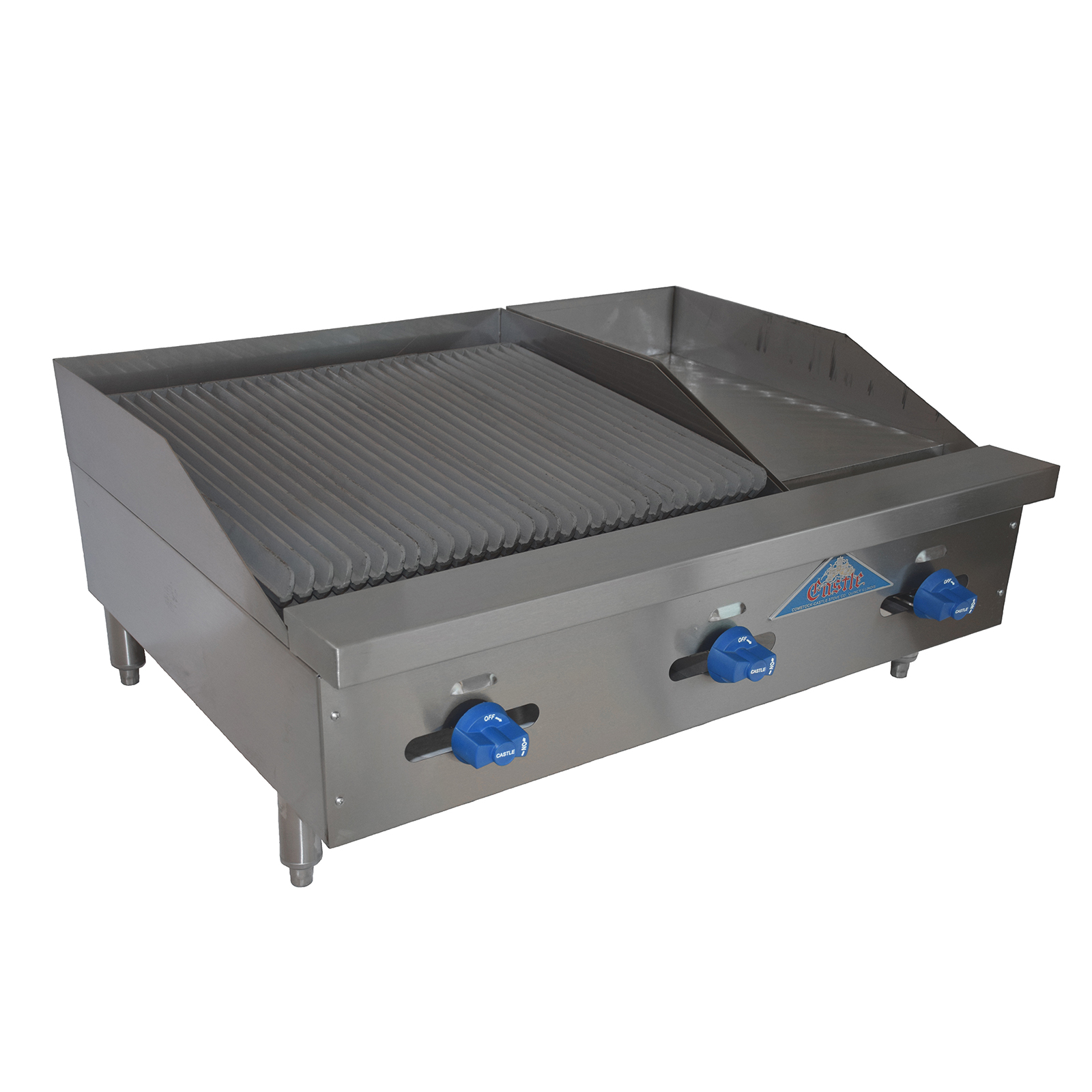 Comstock-Castle FHP36-12-2RB griddle / charbroiler, gas, countertop
