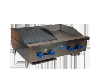 Comstock-Castle FHP36-18-1.5LB griddle / charbroiler, gas, countertop