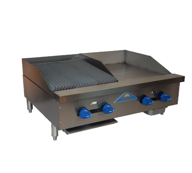 Comstock-Castle FHP36-18-1.5RB griddle / charbroiler, gas, countertop