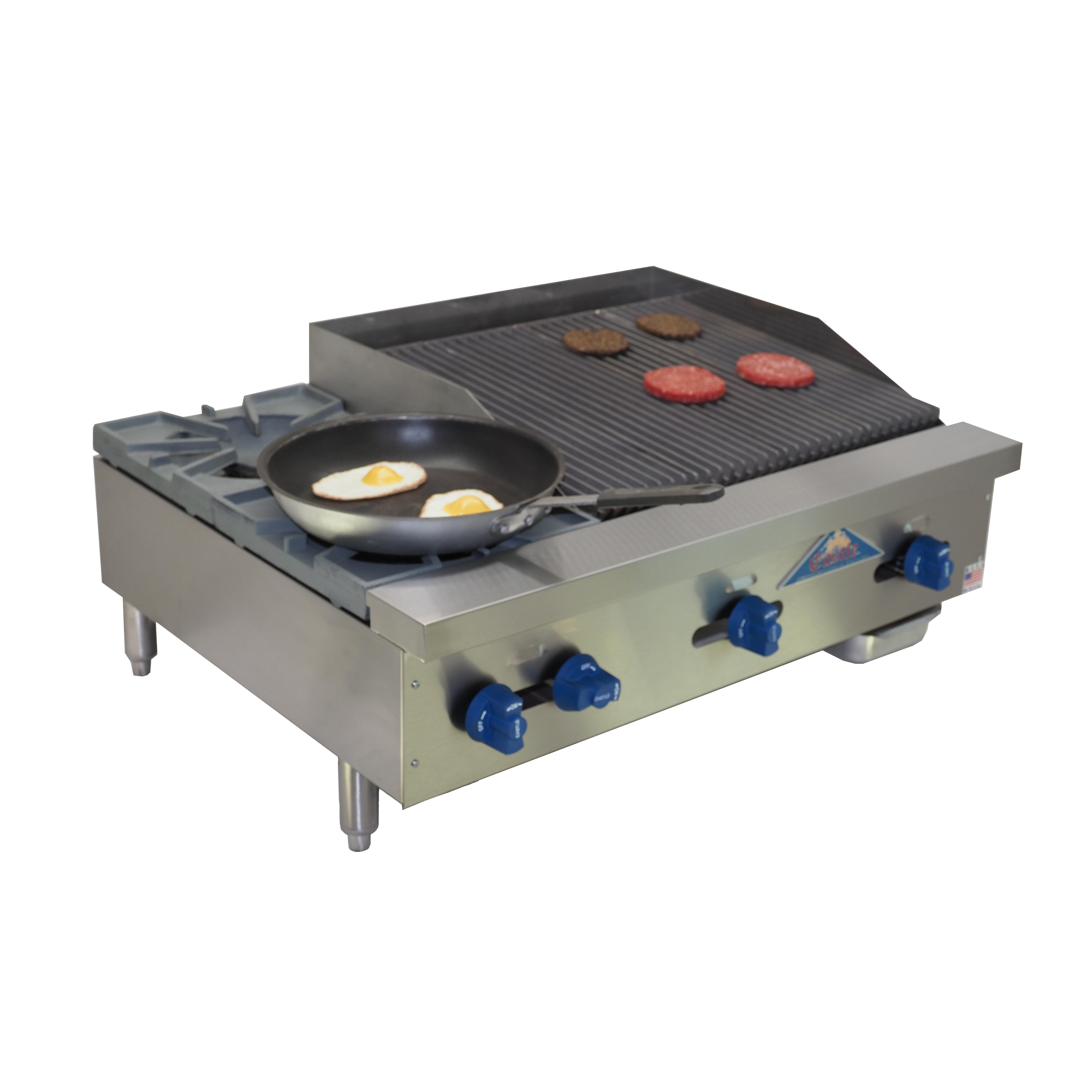 Comstock-Castle FHP36-2LB charbroiler, gas, countertop