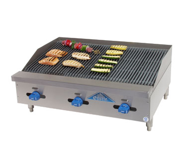 Comstock-Castle FHP36-3RB charbroiler, gas, countertop
